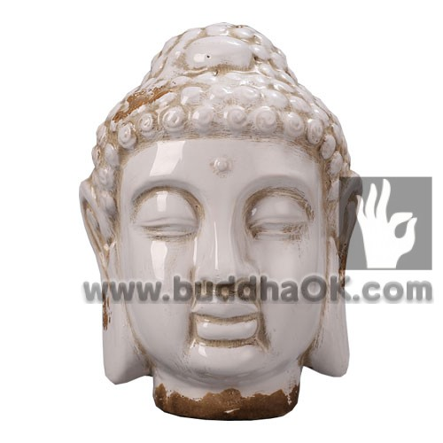 antique porcelain cemaric ivory white buddha head home hotel decor Amitabha Shakyamini peaceful expression