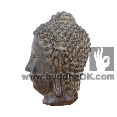 Fresh Antique Wooden Resin Garden Outdoor Large Lord Buddha Head Statue  AY81