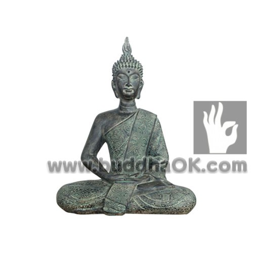 Partina-like-Resin-Sitting-Thai-Meditation-Buddha-Front
