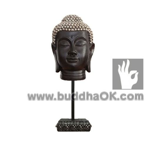 Resin-Antique-Color-Buddha-Head-Front-Table-Decor