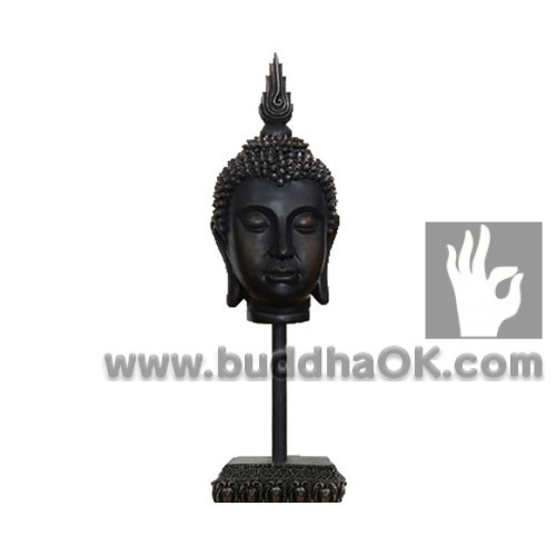 Resin-Ebony-like-Buddha-Head-Front-Table-Decor