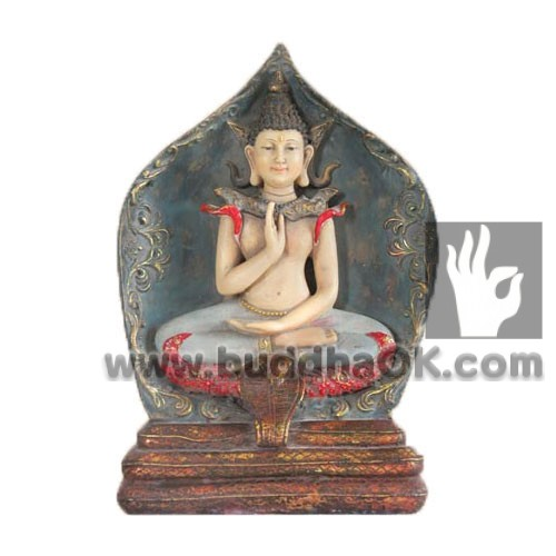 Resin-Hindu-Buddha-With-a-Snake-Throne-Table-Decor-Front