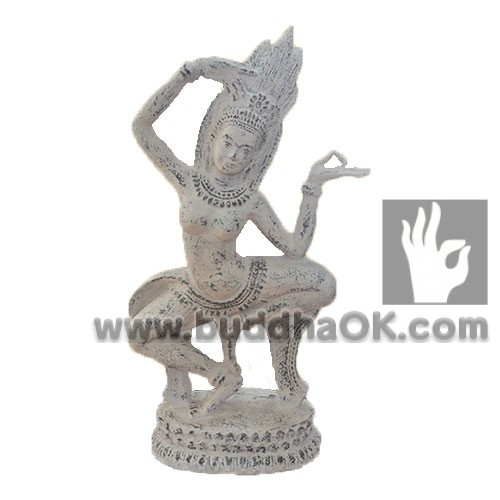 Resin-White-Hindu-Buddha-Nataraja-Decor-Front-