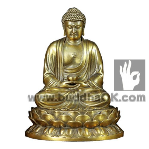 3Brass-Gold-Shakyamuni-Holding-a-Bowl-Stiing-on-a-lotus-Plith