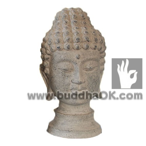 Mud Color Resin Buddha Head Table Decor Front