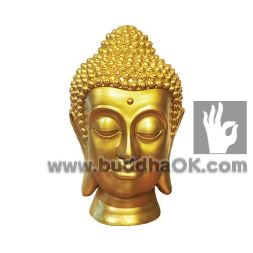 Resin-Gold-Buddha-Head-Front-Table-Decor